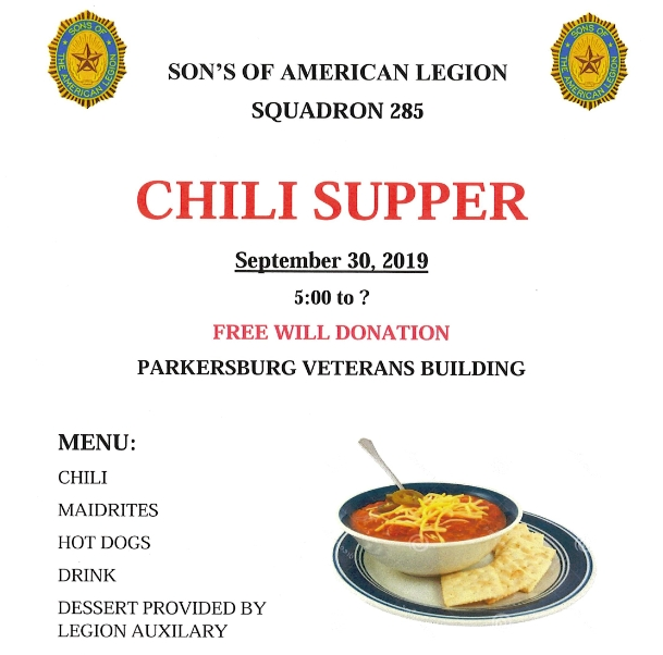 Parkersburg Son's of the American Legion Chili Supper