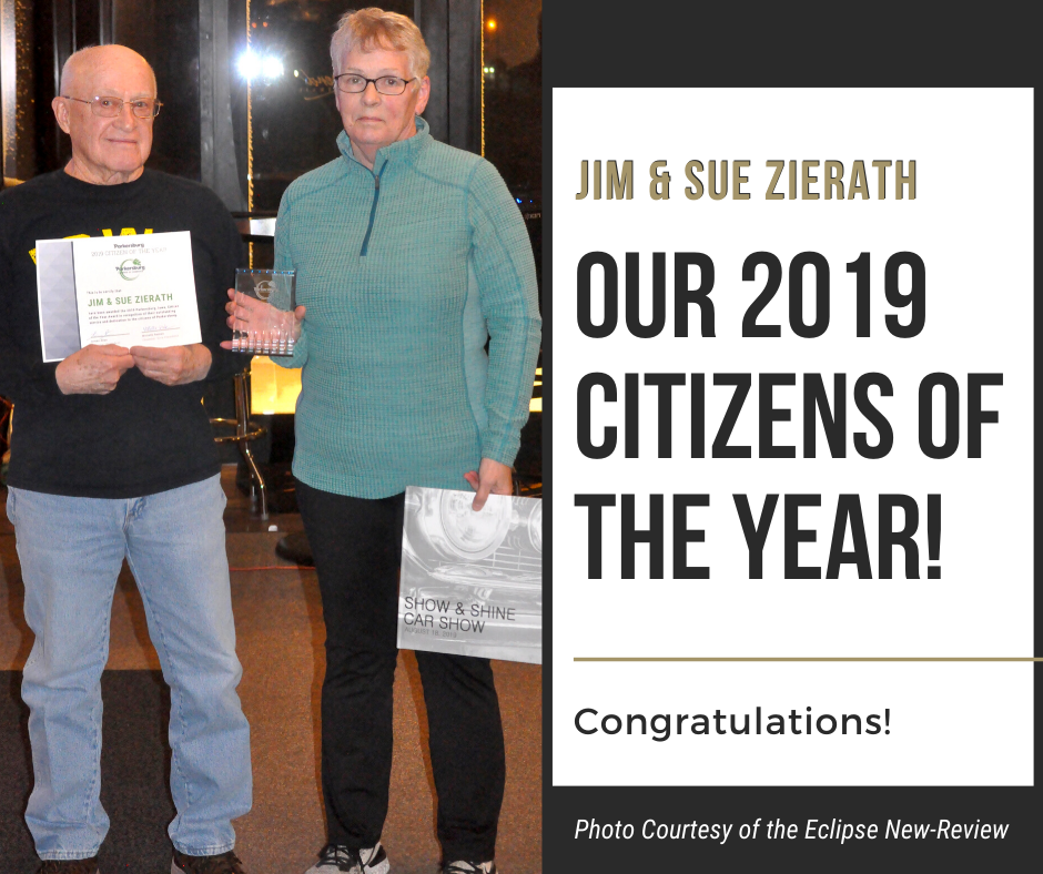 Parkersburg Chamber of Commerce's 2020 Citizens of the Year: Jim and Sue Zierath