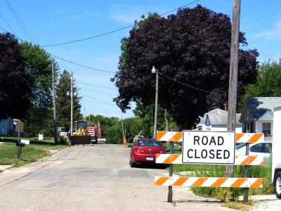 Construction begins on Railroad Street