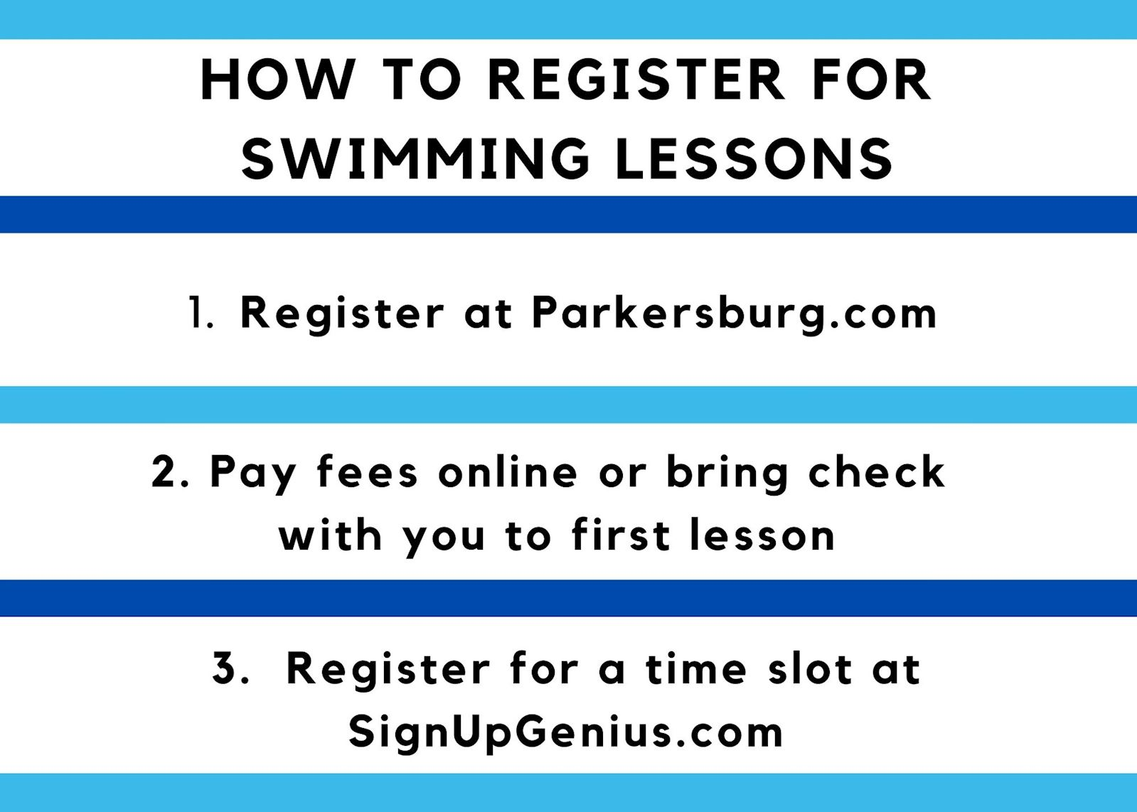 Swimming Lesson Time Slots