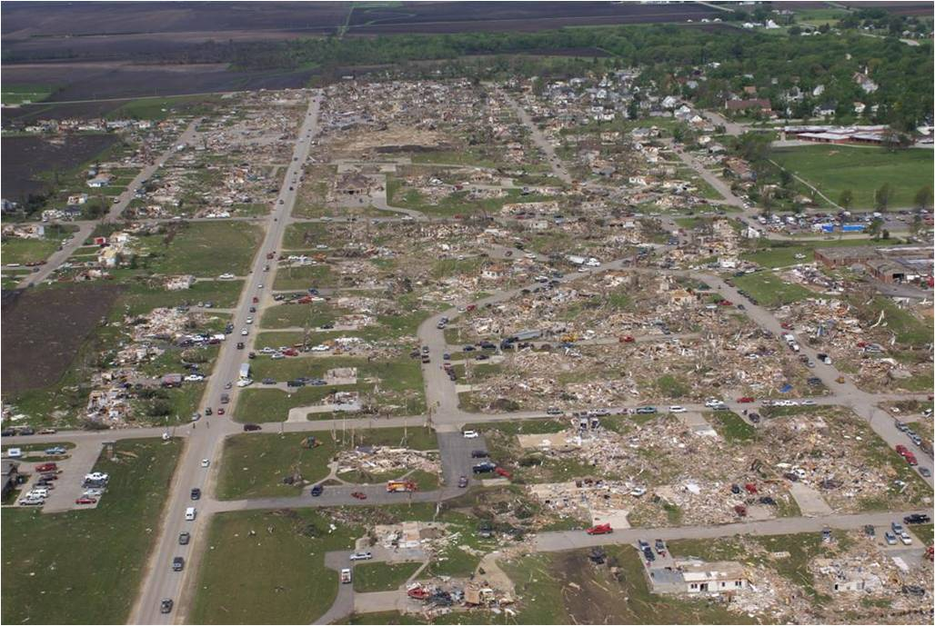 Parkersburg Iowa After EF-5 Tornado in 2008